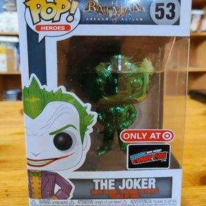 Funko Pop The Joker Green Chrome Target!